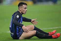 February 3, 2019 - Milan, Milan, Italy - Lautaro Martinez #10 of FC Internazionale Milano reacts to a missed chance during the serie A match between FC Internazionale and Bologna FC at Stadio Giuseppe Meazza on February 3, 2019 in Milan, Italy. (Credit Image: © Giuseppe Cottini/NurPhoto via ZUMA Press)