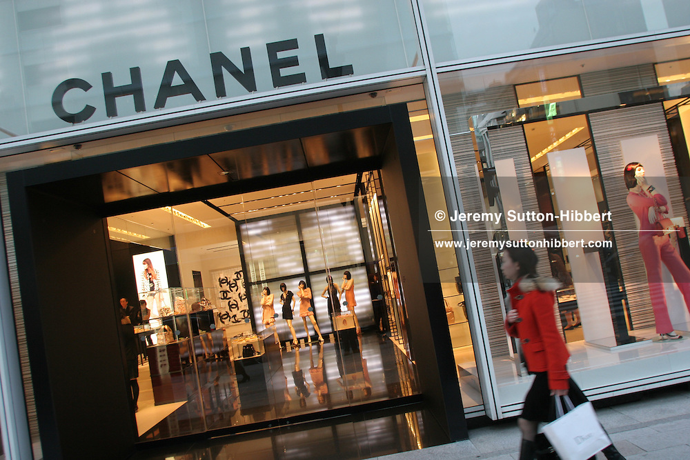 Chanel fashion boutique, designed by Peter Marino, in the Ginza district, Tokyo, Japan, on Monday, Feb. 19, 2007.