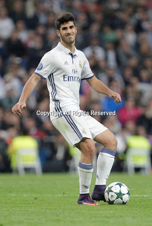 18.10.2016. Madrid, Spain. UEFA Champions League football. Real Madrid versus Legia Warsaw. Asencio (Real Madrid) in action