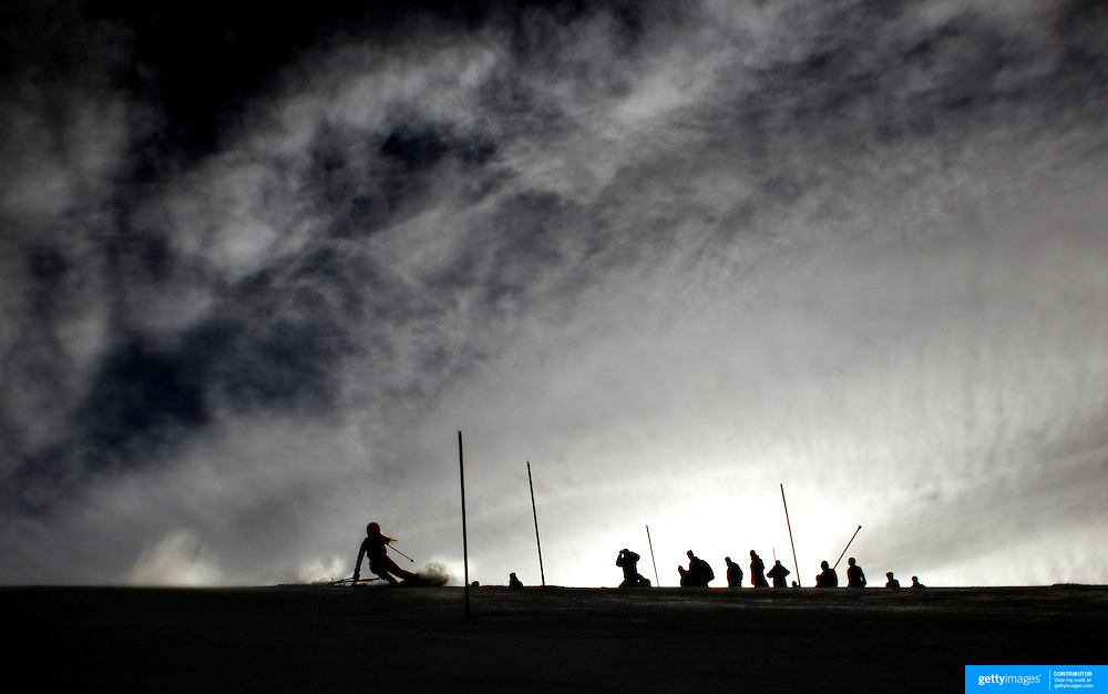 Annie Winquist, Norway, in action during the Women's Slalom event during the Winter Games at Cardrona, Wanaka, New Zealand, 24th August 2011. Photo Tim Clayton...