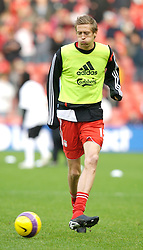 LIVERPOOL, ENGLAND - Sunday, December 2, 2007: Liverpool's Peter Crouch before the Premiership match against Bolton Wanderers at Anfield. (Photo by David Rawcliffe/Propaganda)