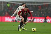 Football - 2019 / 2020 Premier League - AFC Bournemouth vs. Manchester United<br /> <br /> Victor Lindelof of Manchester United charges through the back of Bournemouth's Harry Wilson to concede a foul during the Premier League match at the Vitality Stadium (Dean Court) Bournemouth  <br /> <br /> COLORSPORT/SHAUN BOGGUST