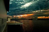 Dramatic sunset in San Pedro. Copyright 2014 Reid McNally.