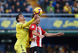 January 20, 2019 - Villarreal, Castellon, Spain - Gerard Moreno of Villarreal and Yeray Alvarez of Athletic Club de Bilbao during the La Liga Santander match between Villarreal and Athletic Club de Bilbao at La Ceramica Stadium on Jenuary 20, 2019 in Vila-real, Spain. (Credit Image: © Maria Jose Segovia/NurPhoto via ZUMA Press)