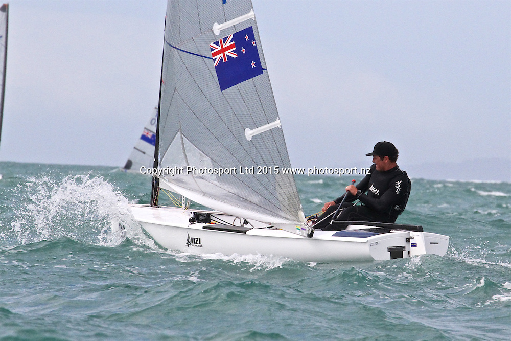 Race 8 Finn Gold Cup Takapuna - Andrew Murdoch (NZL)