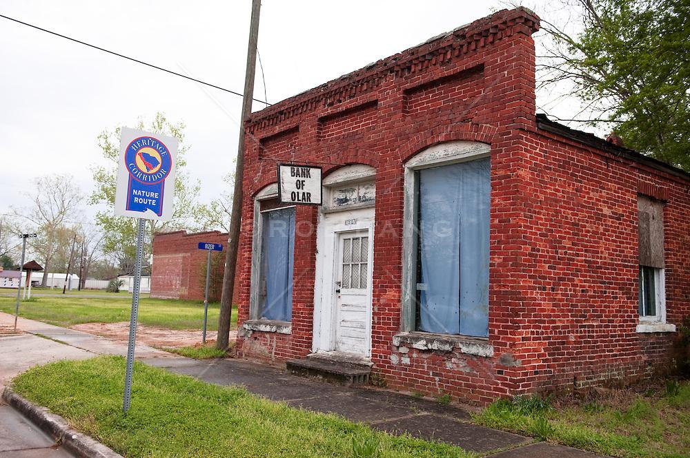 Small town bank in South Carolina