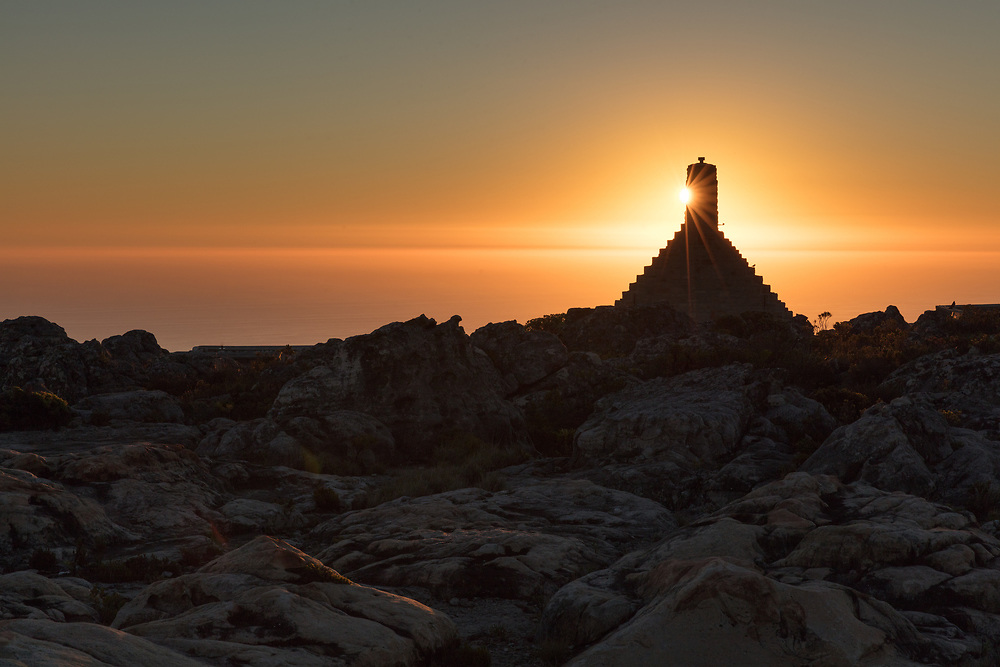http://Duncan.co/sunset-and-structure-atop-table-mountain