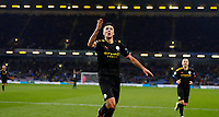 Football - 2019 / 2020 Premier League - Burnley vs. Manchester City<br /> <br /> Rodrigo of Manchester City celebrates his  goal at Turf Moor.<br /> <br /> COLORSPORT/LYNNE CAMERON