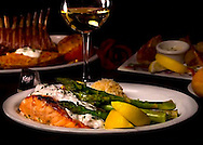 An elegant dinner is served at Kozy's restaurant in Tuscaloosa, Alabama, Oct. 16, 2009. (Photo by Carmen K. Sisson/Cloudybright)