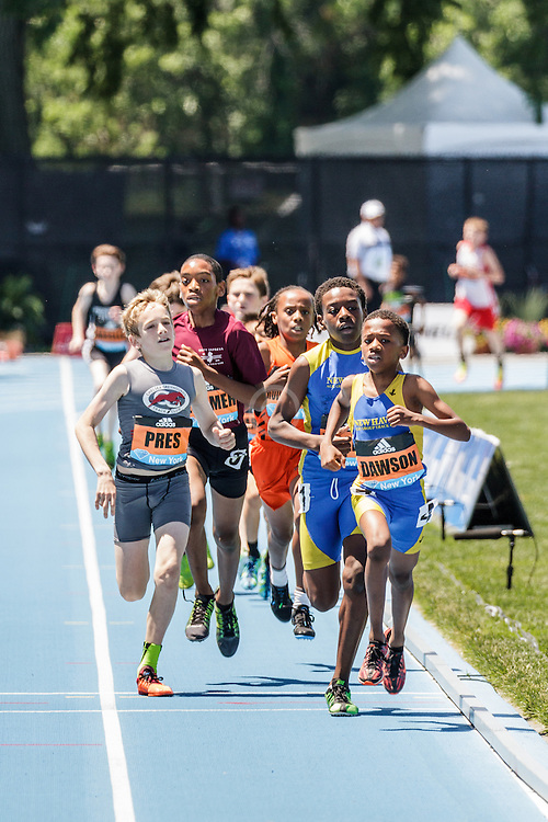 adidas Grand Prix Diamond League Track & Field: Boys Youth Mile, chase pack with lap to go, Dawson
