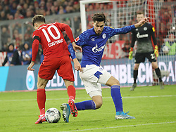 25.01.2020, Allianz Arena, Muenchen, GER, 1. FBL, FC Bayern Muenchen vs Schalke 04, 19. Runde, im Bild Philippe Coutinho gegen Suat Serdar // during the German Bundesliga 19th round match between FC Bayern Muenchen and Schalke 04 at the Allianz Arena in Muenchen, Germany on 2020/01/25. EXPA Pictures © 2020, PhotoCredit: EXPA/ SM<br /> <br /> *****ATTENTION - OUT of GER*****