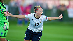 28.08.2013, Richmond Park, Carmarthen, ENG, UEFA Damen U19 EM, England vs Finnland, im Bild England's Bethany Mead celebrates scoring the third goal against Finland during the Semi-Final match of the UEFA Women's Under-19 Championship Wales 2013 tournament at Richmond Park. during the UEFA women U 19 championchip group A match between England and Finland at Richmond Park in Carmarthen, Great Britain on 2013/08/28. EXPA Pictures © 2013, PhotoCredit: EXPA/ Propagandaphoto/ Alan Seymour<br /> <br /> ***** ATTENTION - OUT OF ENG, GBR, UK *****