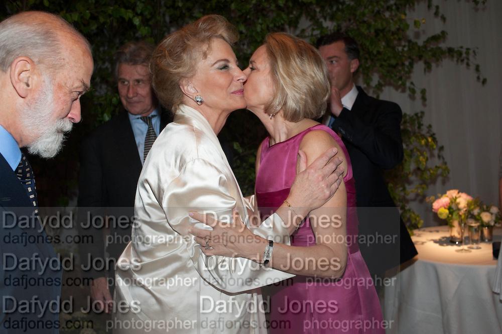 PRINCE MICHAEL OF KENT; PRINCESS MICHAEL OF KENT; CARLA BAMBERGER, The Cartier Chelsea Flower show dinner. Hurlingham club, London. 20 May 2013.