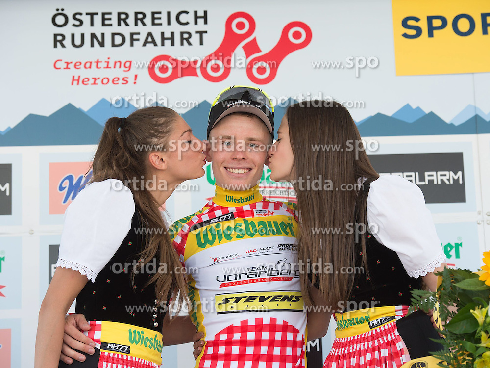 05.07.2015, Scheibbs, AUT, Österreich Radrundfahrt, 1. Etappe, Mörbisch nach Scheibbs, im Bild Daniel Lehner (AUT, 1. Platz Bergwertung) // 1st place king of mountains Daniel Lehner of Austria during the Tour of Austria, 1st Stage, from Mörbisch to Scheibbs, Austria on 2015/07/05. EXPA Pictures © 2015, PhotoCredit: EXPA/ Reinhard Eisenbauer
