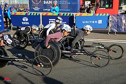 Manuela Schar, Tatyana McFadden start wheelchairs<br /> TCS New York City Marathon 2019
