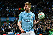 Kevin De Bruyne (17) of Manchester City during the EFL Cup Final match between Arsenal and Manchester City at Wembley Stadium, London, England on 25 February 2018. Picture by Graham Hunt.