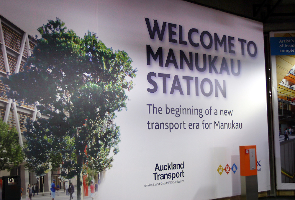 New Manuakau Railway Station and line opens giving a service to Britomart, Auckland, New Zealand, Sunday, April 15, 2012. Credit:SNPA/ Grahame Clark