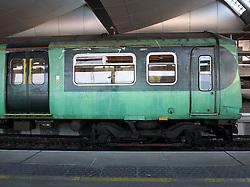UK ENGLAND LONDON MAR14 - A train arrives at Blackfriars Station, built on a bridge spanning the river Thames in central London.<br /> <br /> jre/Photo by Jiri Rezac<br /> <br /> © Jiri Rezac 2014