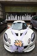 Singapore. Fullerton Hotel. Wedding Lotus Exige..