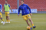 Bristol Rovers Defender, Tom Lockyer (4) warms up during the EFL Sky Bet League 1 match between Blackpool and Bristol Rovers at Bloomfield Road, Blackpool, England on 3 November 2018.