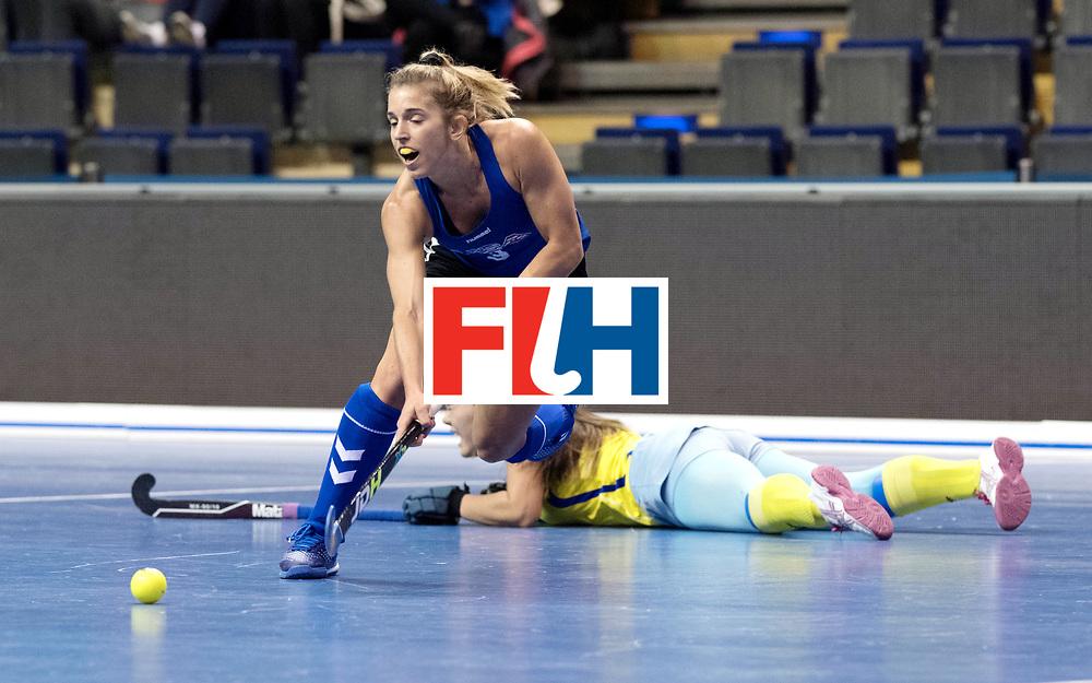 BERLIN - Indoor Hockey World Cup<br /> Women: United States - Kazakhstan<br /> foto: BARHAM Mary.<br /> WORLDSPORTPICS COPYRIGHT FRANK UIJLENBROEK