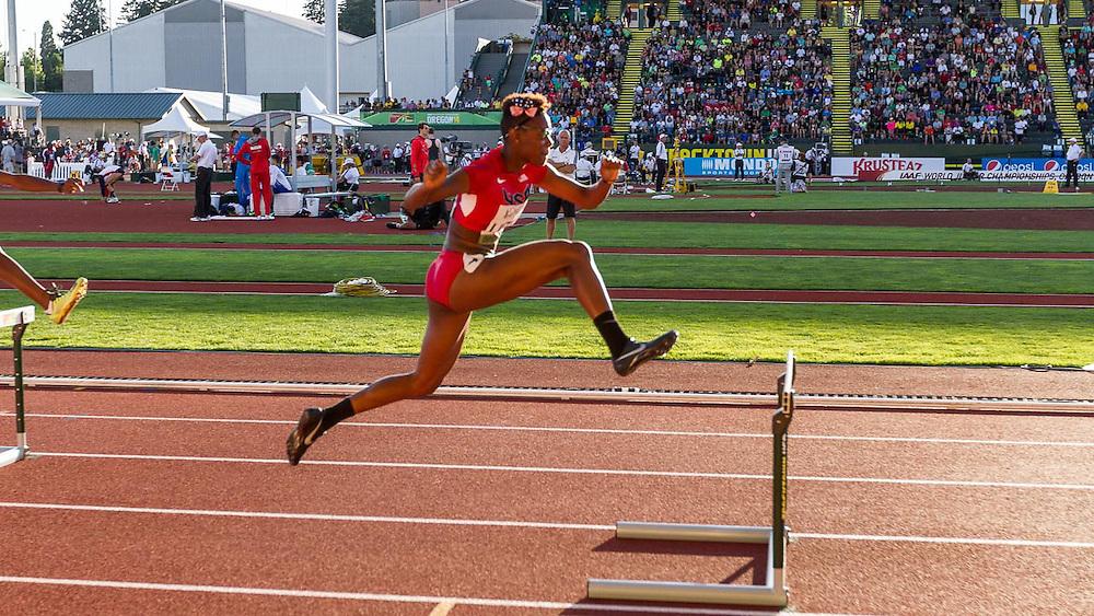 women's 400 meter hurdles,   Shamier Little, USA
