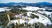 Low Level Aerial view of the 1980 Olympic Ski Jumps in Lake Placid, N.Y. also showing the Village of Lake Placid, Whiteface Mountain, and the Lake Placid Airport. (Photo/Todd Bissonette - http://www.rtbphoto.com)