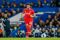 Emre Can of Liverpool in action - Photo mandatory by-line: Rogan Thomson/JMP - 07966 386802 - 27/01/2015 - SPORT - FOOTBALL - London, England - Stamford Bridge - Chelsea v Liverpool - Capital One Cup Semi-Final Second Leg.