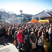 TOKYO, JAPAN - JANUARY 1 : Thousands of People visit Sensoji Buddhist temple at the Asakusa district in Tokyo to offer New Year prayers on Sunday, January 1, 2017. Japan celebrated the start of 2017 for the Year of the Rooster. (Photo by Richard Atrero de Guzman/NURPhoto)
