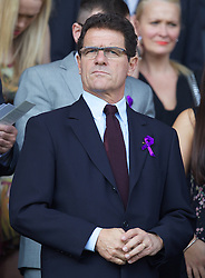 LIVERPOOL, ENGLAND - Saturday, October 1, 2011: England manager Fabio Capello before the Premiership match between Everton and Liverpool at Goodison Park. (Pic by Vegard Grott/Propaganda)