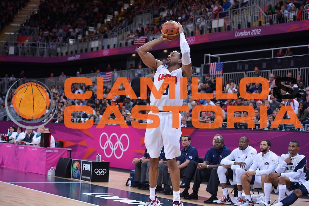DESCRIZIONE : London Londra Olympic Games Olimpiadi 2012 Men Preliminary Round USA Nigeria<br /> GIOCATORE : Andre IGUODALA<br /> CATEGORIA : <br /> SQUADRA : USA<br /> EVENTO : Olympic Games Olimpiadi 2012<br /> GARA : USA Nigeria<br /> DATA : 02/08/2012<br /> SPORT : Pallacanestro <br /> AUTORE : Agenzia Ciamillo-Castoria/M.Marchi<br /> Galleria : London Londra Olympic Games Olimpiadi 2012 <br /> Fotonotizia : London Londra Olympic Games Olimpiadi 2012 Men Preliminary Round USA Nigeria<br /> Predefinita :