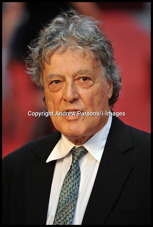 Tom Stoppard arrives for the - UK film premiere of Anna Karenina, London, Tuesday September 4, 2012 Photo Andrew Parsons/i-Images..All Rights Reserved ©Andrew Parsons/i-Images