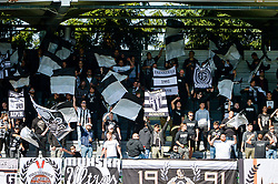 Fans of NS Mura during football match between NS Mura and NK Maribor in 10th Round of Prva liga Telekom Slovenije 2018/19, on September 30, 2018 in Mestni stadion Fazanerija, Murska Sobota, Slovenia. Photo by Mario Horvat / Sportida