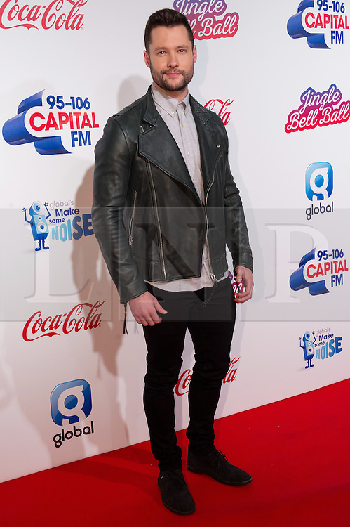 © Licensed to London News Pictures. 03/12/2016. CALUM SCOTT attends Capital's Jingle Bell Ball with Coca-Cola at London's O2 Arena London, UK. Photo credit: Ray Tang/LNP