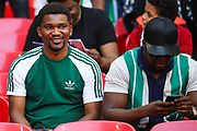Nigerian fans during the Friendly International match between England and Nigeria at Wembley Stadium, London, England on 2 June 2018. Picture by Toyin Oshodi.