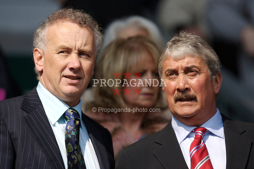 Liverpool, England - Saturday, March 3, 2007: Liverpool's Chief-Executive Rick Parry and out-going Chairman David Moores during the Premiership match against Arsenal at Anfield. (Pic by David Rawcliffe/Propaganda)