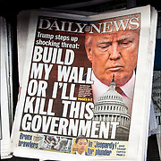 Daily News Headline( August 25, 2017 ) &quot;Build My Wall Or I'll Kill This Government&quot;.<br /> <br /> President Trump threatens to hold the federal government hostage if he doesn&rsquo;t get funds for his long-promised wall along the Mexican border.