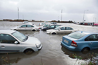 26/01/2016  Carswas destroyed  in the flooding in Salthill in storm Jonas hits the West coast. Photo:Andrew Downes, XPOSURE .