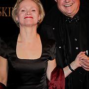 NLD/Amsterdam/20120115 - Premiere Suskind, Renee Soutendijk en partner Ted Lensen