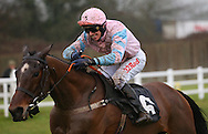 Plumpton, UK. 12th December 2016. <br /> Paddy Oscarose ridden by Paddy Brennan head towards the winning post to land  the Crawley Town Football Club Handicap Chase<br /> &copy; Telephoto Images / Alamy Live News