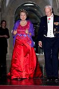 Galadiner voor het Corps Diplomatique in het Koninklijk Paleis in Amsterdam // Gala dinner for the Corps Diplomatique at the Royal Palace in Amsterdam<br /> <br /> Op de foto:  Prinses Margriet