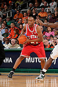 February 27, 2010: C.J. Williams of the North Carolina State Wolfpack in action during the NCAA basketball game between the Miami Hurricanes and the North Carolina State Wolfpack. The Wolfpack defeated the 'Canes 71-66.