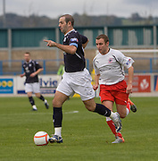 Gary Harkins and Stirling's Nathan Taggart - Stirling Albion v Dundee, IRN BRU Scottish League 1st Division, Forthbank Stadium, Stirling<br /> <br />  - © David Young<br /> ---<br /> email: david@davidyoungphoto.co.uk<br /> http://www.davidyoungphoto.co.uk