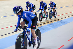 March 1, 2018 - Apeldoorn, Netherlands - Elisa Balsamo, Letizia Paternoster, Silvia Valsecchi and Tatiana Guderzo of Italy competes in the Women's Team Pursuit  during UCI Track Cycling World Championships Apeldoorn 2018   in Apeldoorn, the Netherlands on 1st March 2018. The track cycling worlds take place from 28 February to 04 March.  (Photo by Foto Olimpik/NurPhoto) (Credit Image: © Foto Olimpik/NurPhoto via ZUMA Press)
