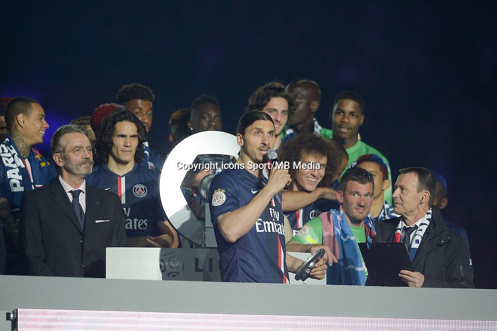 joie PSG / Zlatan Ibrahimovic - 23.05.2015 - PSG / Reims - 38eme journee de Ligue 1<br />Photo : Andre Ferreira / Icon Sport
