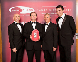 SuperValu finalist in the Edward Dillon/Santa Rita Estates SuperValu Off Licence of the Year was SuperValu, Kanturk, Co. Cork. Pictured left to right are Donagh McClafferty, Musgraves, Michael Twohig from SuperValu Kanturk, Tony Reade, Edward Dillon and Tom Lethaby, Santa Rita Estates.