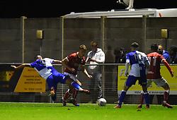 Kenan Dunwald tackles Aaron Parsons of Bristol City - Mandatory by-line: Paul Knight/JMP - 16/11/2017 - FOOTBALL - Woodspring Stadium - Weston-super-Mare, England - Bristol City U23 v Bristol Rovers U23 - Central League Cup