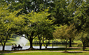 20120817 Visitors enjoy lunch by the pond at Roosevelt Wilson Park  which features a picnic area, boardwalks, paved walking trails, public restrooms and a water fountain.<br /> photo by Laura Mueller<br /> www.lauramuellerphotography.com