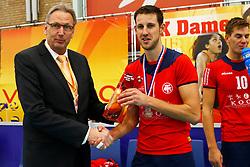 20140928 NED: Supercup, Landstede Volleybal - Kootfin Taurus: Sneek<br /> Jaap Boom, Bert Sturkenboom (1) of Kootfin Taurus<br /> ©2014-FotoHoogendoorn.nl / Pim Waslander