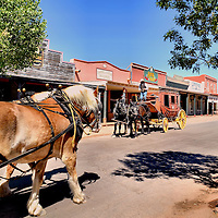 Stagecoaches along Historic Allen Street in Tombstone, Arizona<br />